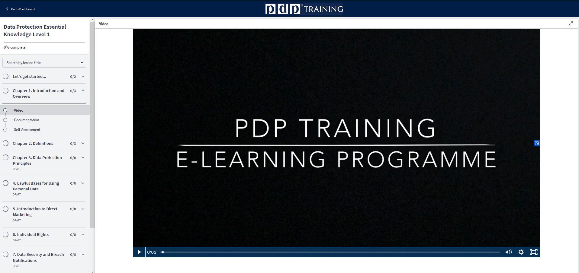 PDP eLearning portal