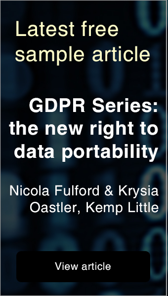 Free sample article - GDPR Series: the new right to data portability