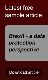 Free Sample Article - Brexit - a data protection perspective