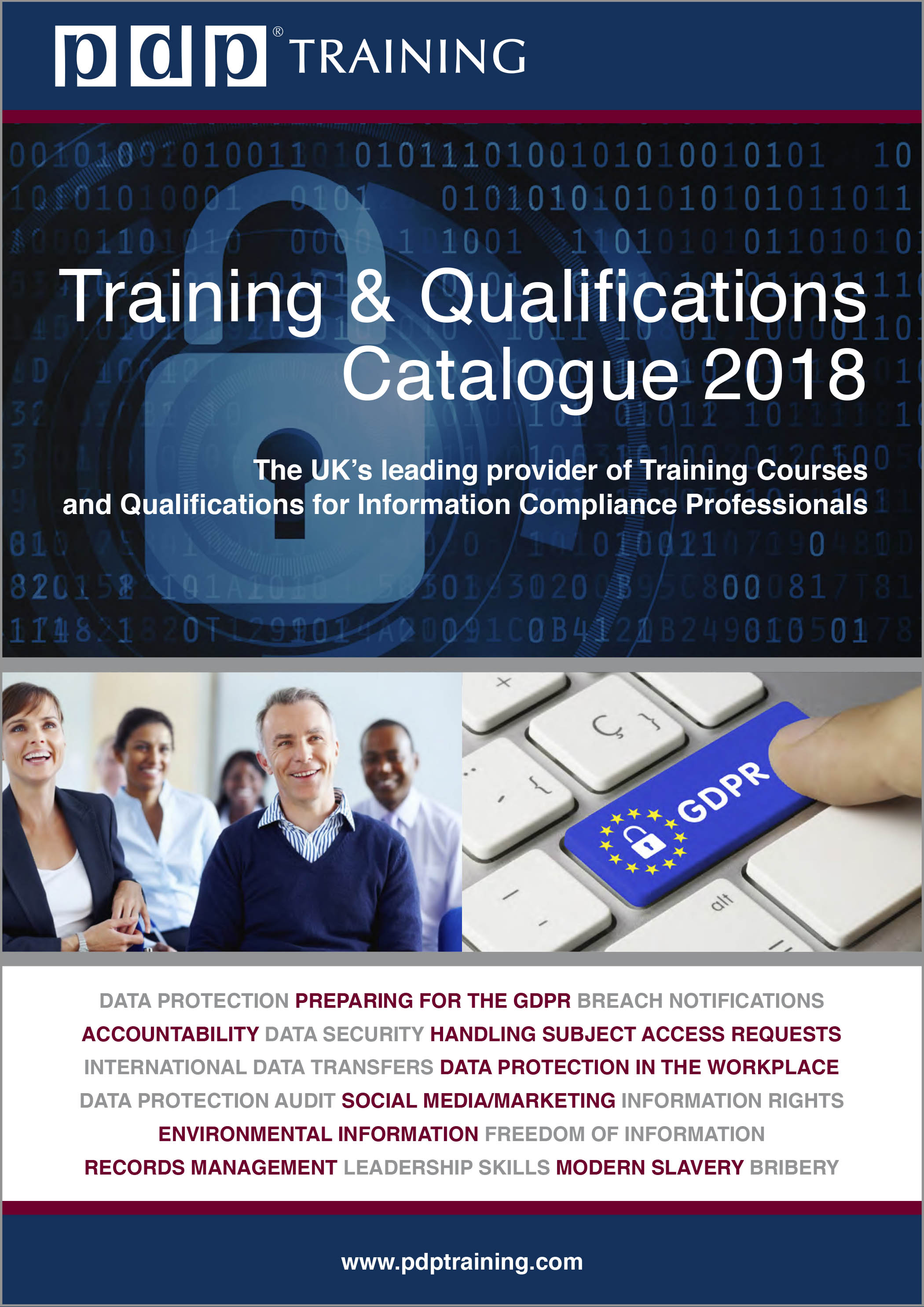 PDP Training & Qualifications Catalogue 2018