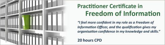 Practitioner Certicate in Freedom of Information